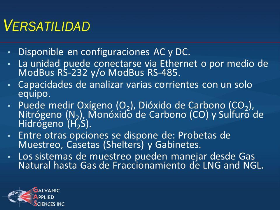 Versatilidad Disponible en configuraciones AC y DC.
