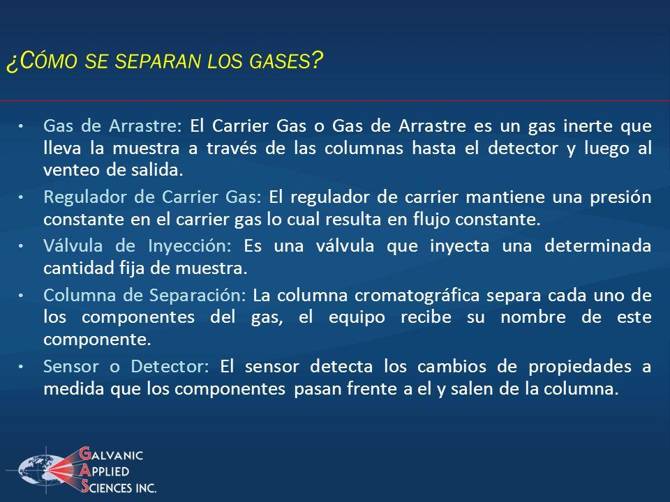¿Cómo se separan los gases