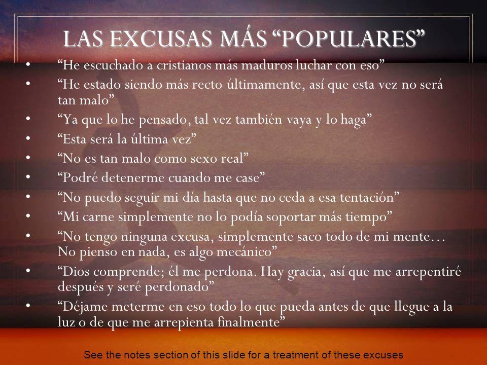 LAS EXCUSAS MÁS POPULARES