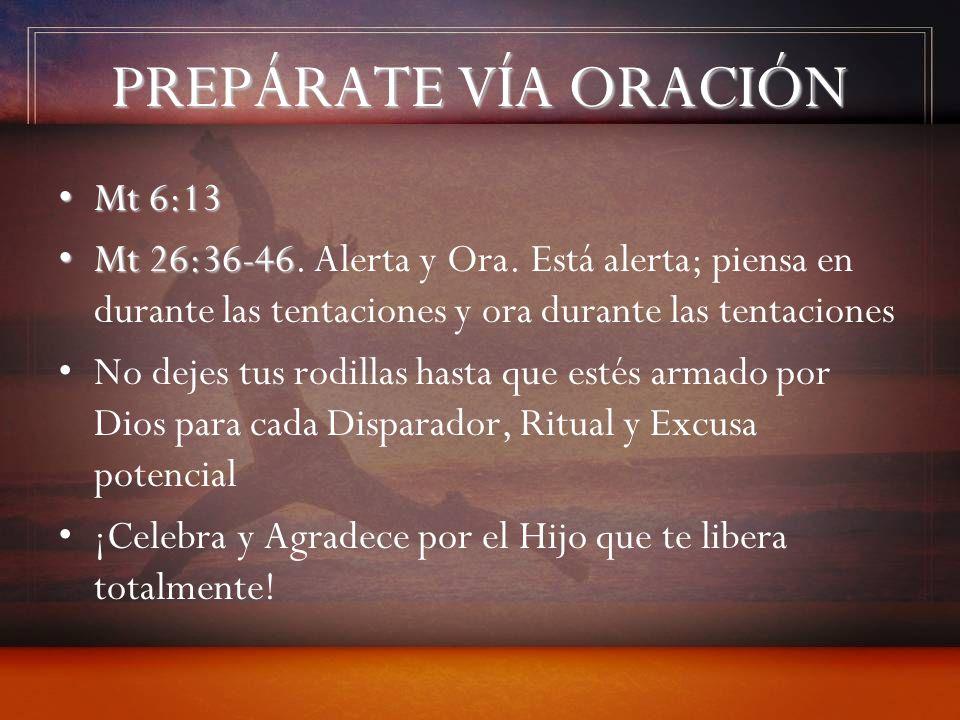 PREPÁRATE VÍA ORACIÓN Mt 6:13