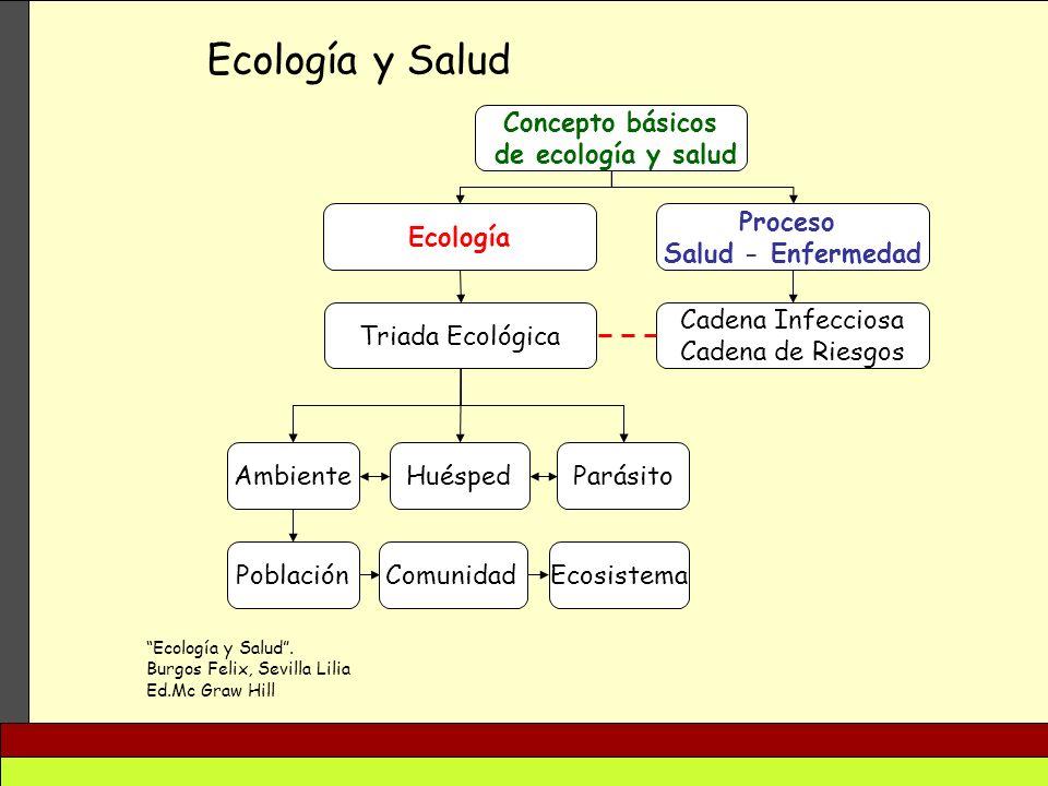 Ecología y Salud Concepto básicos de ecología y salud Ecología Proceso