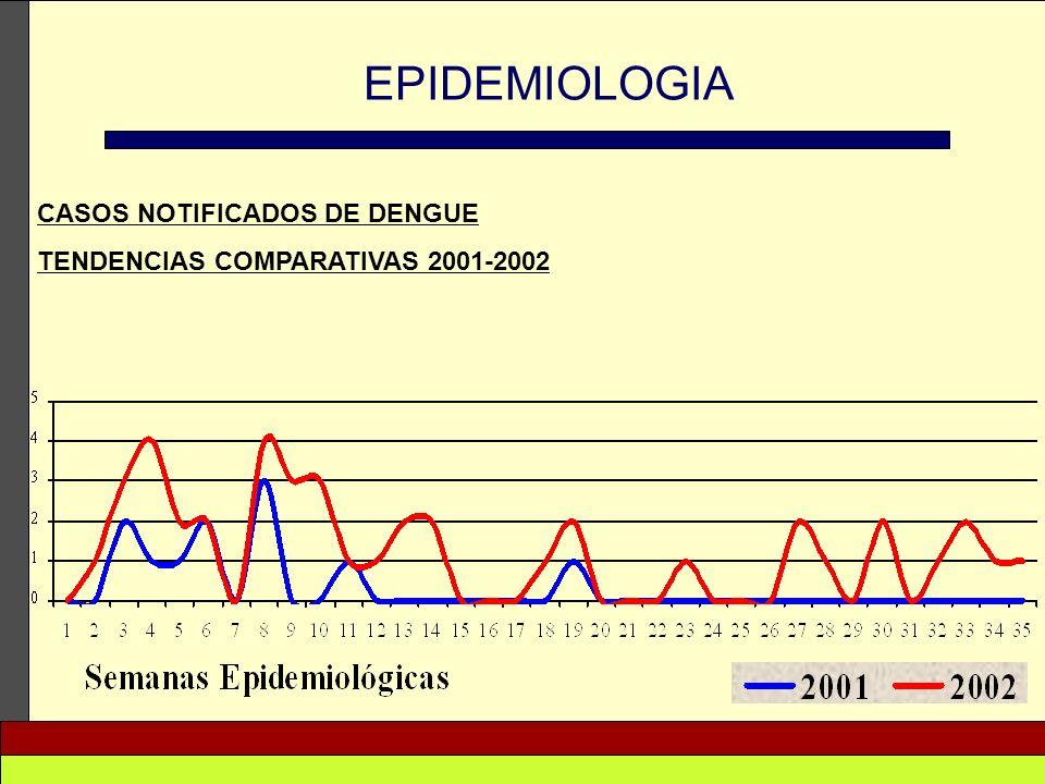 EPIDEMIOLOGIA CASOS NOTIFICADOS DE DENGUE
