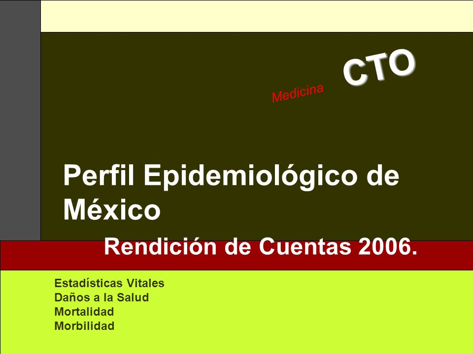 Perfil Epidemiológico de México