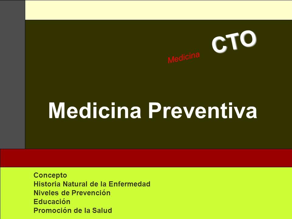 Medicina Preventiva Medicina CTO Concepto