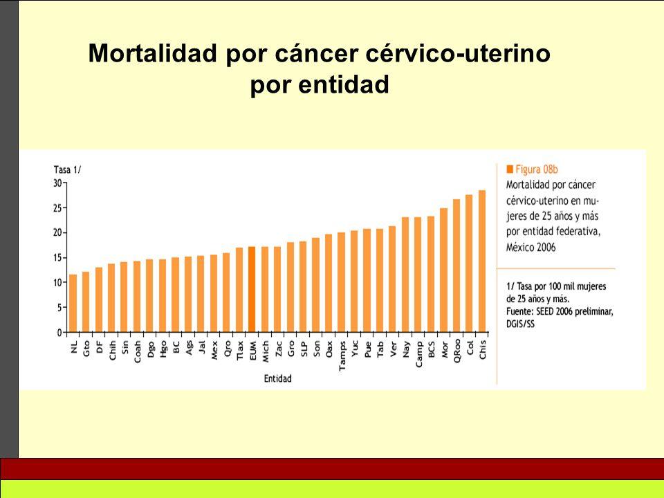Mortalidad por cáncer cérvico-uterino