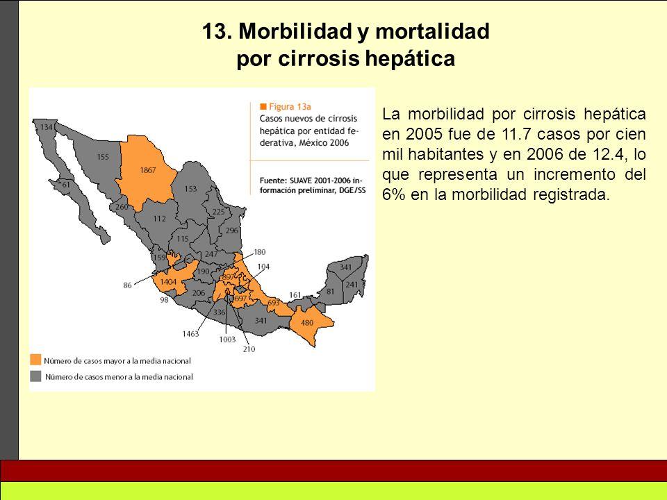 13. Morbilidad y mortalidad