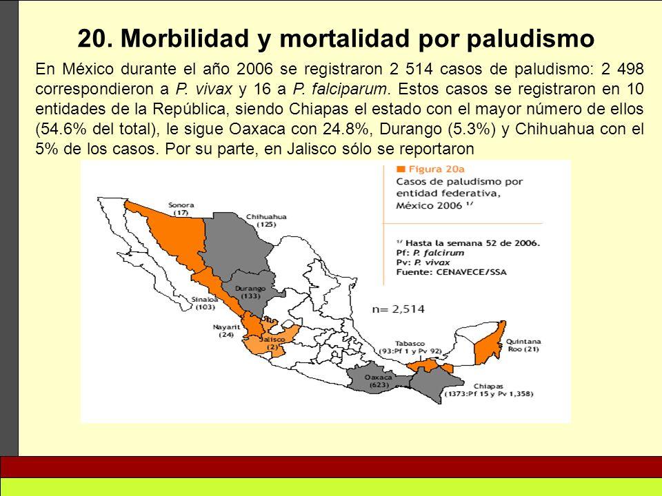 20. Morbilidad y mortalidad por paludismo