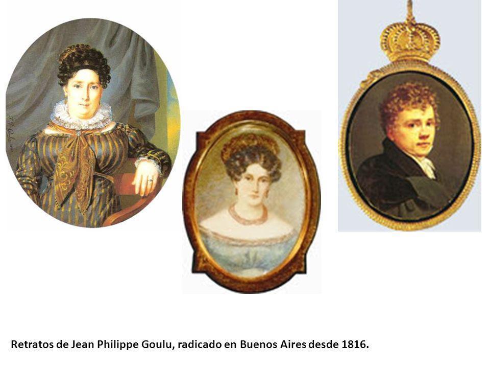 Retratos de Jean Philippe Goulu, radicado en Buenos Aires desde 1816.