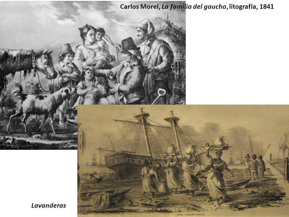 Carlos Morel, La familia del gaucho, litografía, 1841