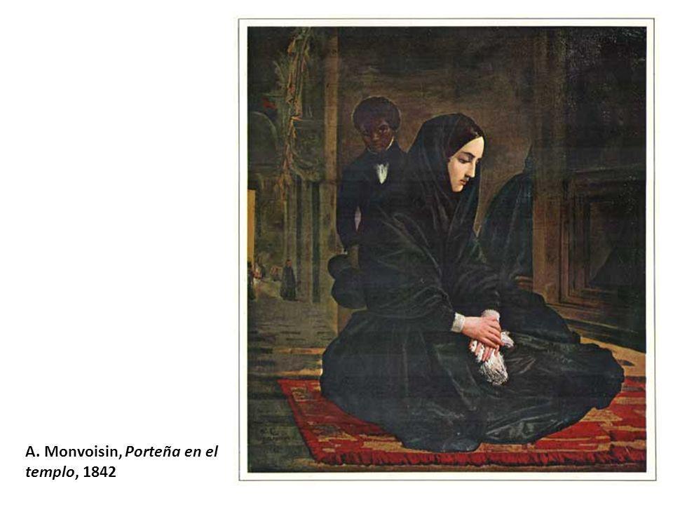 A. Monvoisin, Porteña en el templo, 1842