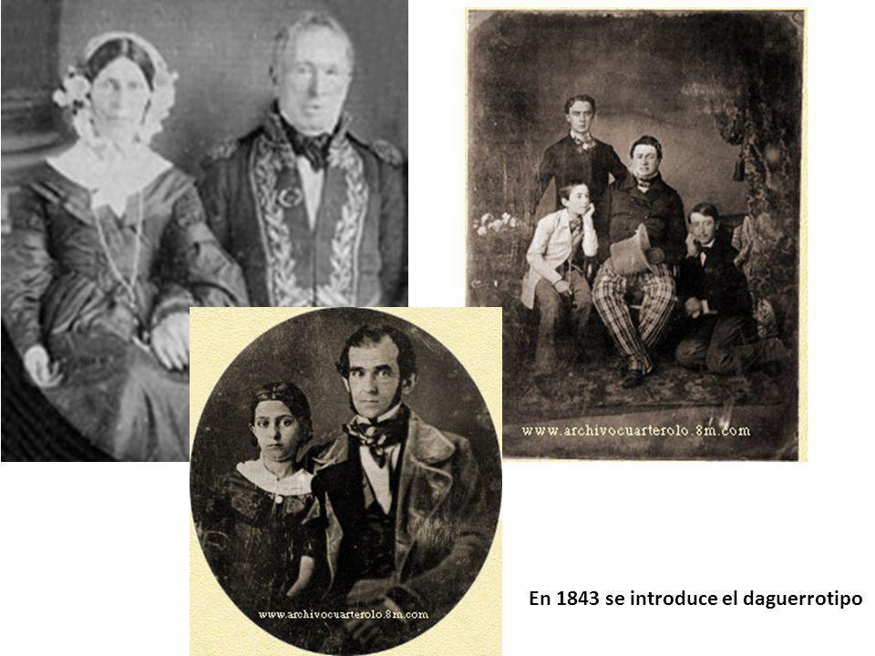 En 1843 se introduce el daguerrotipo