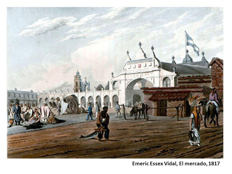 Emeric Essex Vidal, El mercado, 1817