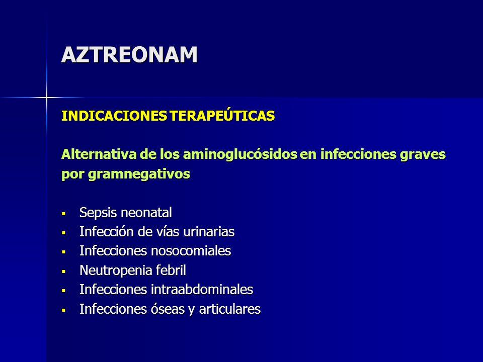 AZTREONAM INDICACIONES TERAPEÚTICAS
