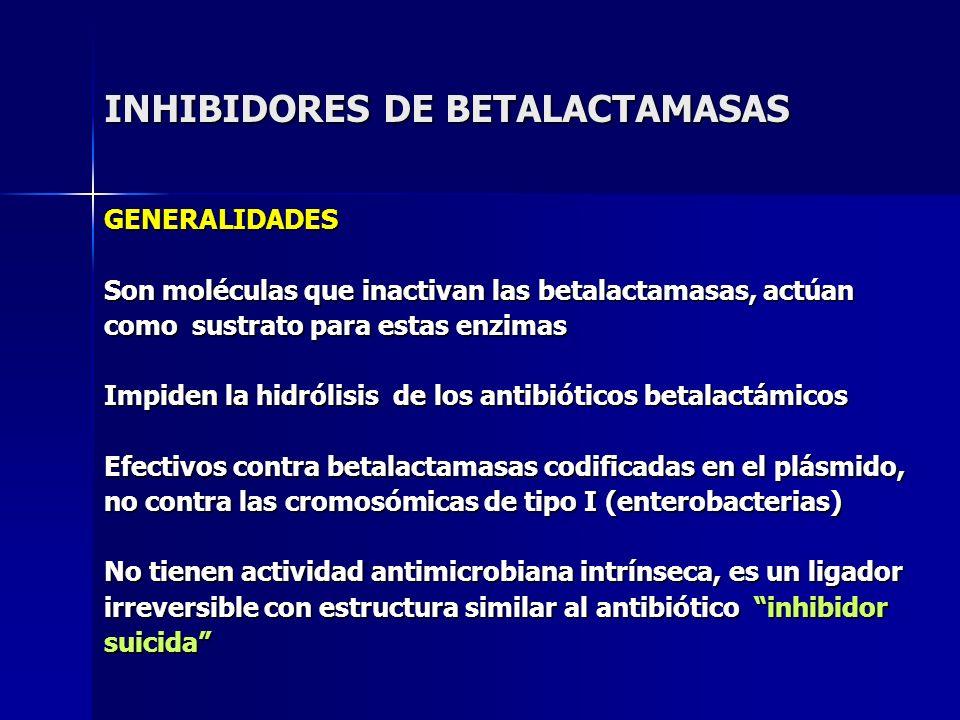 INHIBIDORES DE BETALACTAMASAS