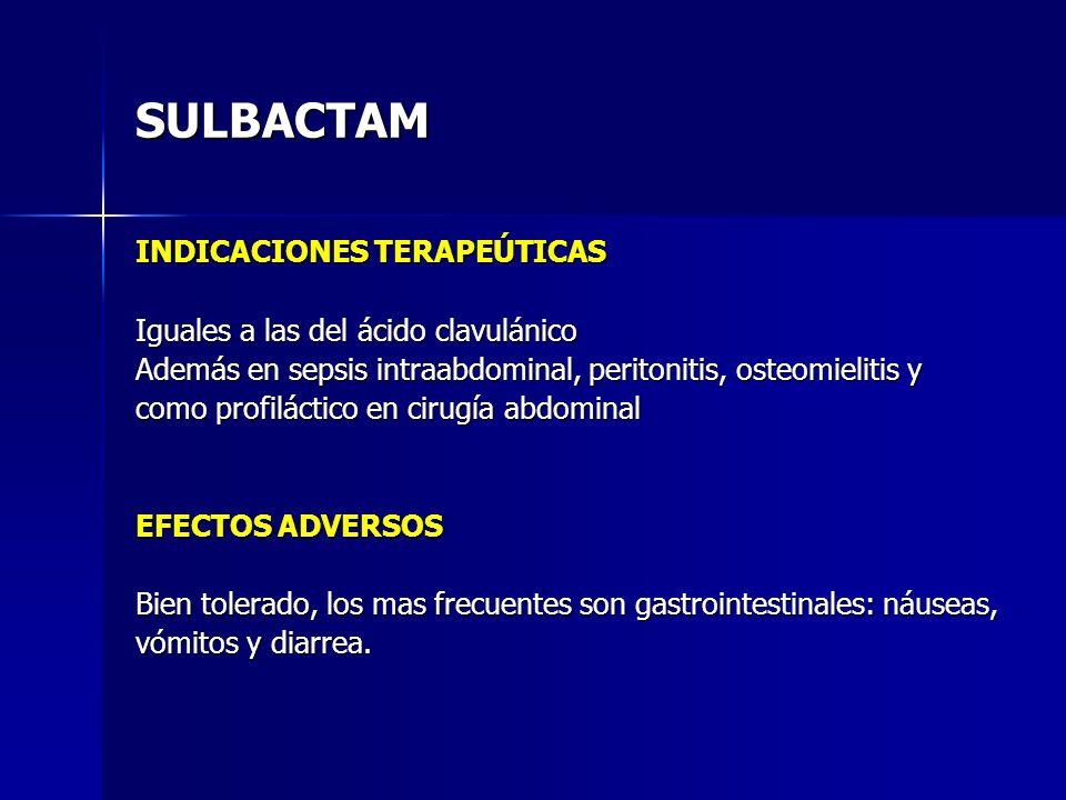 SULBACTAM INDICACIONES TERAPEÚTICAS