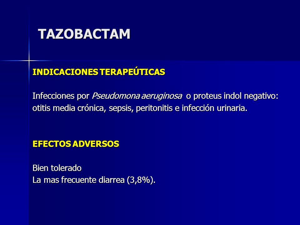 TAZOBACTAM INDICACIONES TERAPEÚTICAS