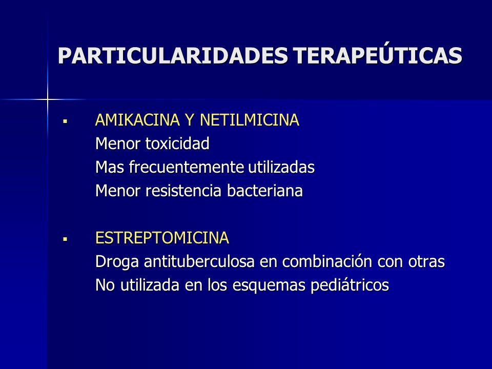 PARTICULARIDADES TERAPEÚTICAS