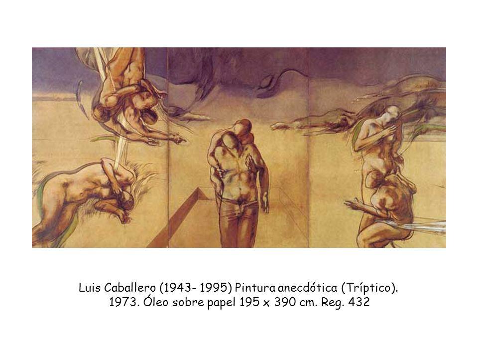 Luis Caballero (1943- 1995) Pintura anecdótica (Tríptico).