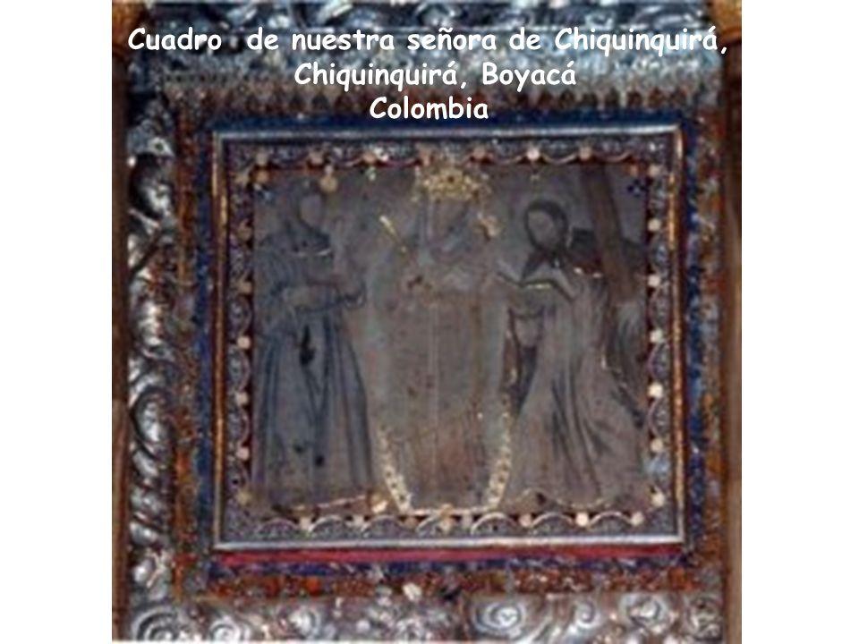 Cuadro de nuestra señora de Chiquinquirá,