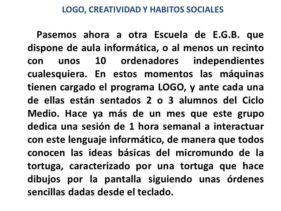 LOGO, CREATIVIDAD Y HABITOS SOCIALES
