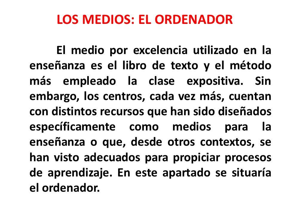 LOS MEDIOS: EL ORDENADOR