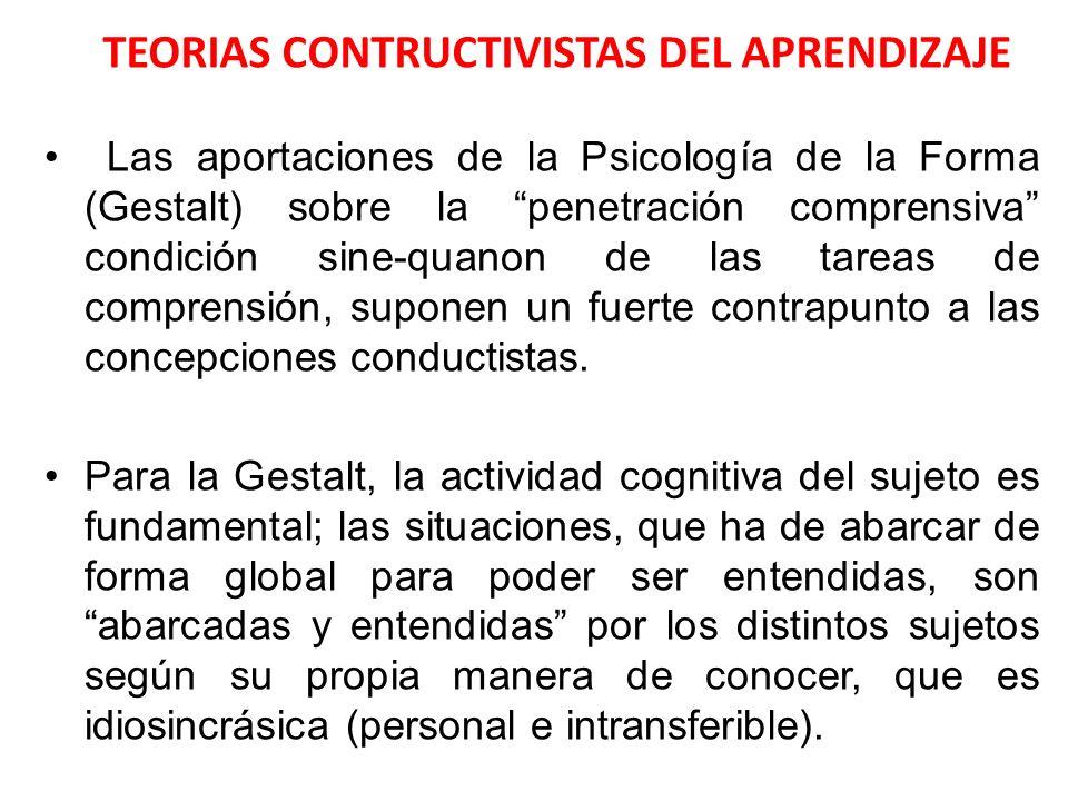 TEORIAS CONTRUCTIVISTAS DEL APRENDIZAJE