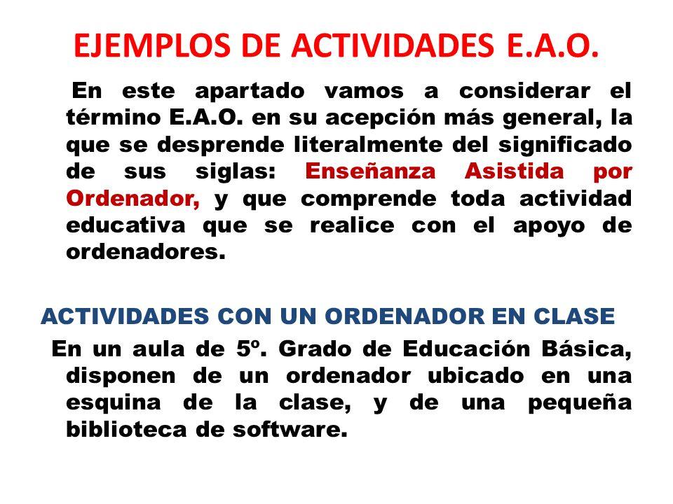 EJEMPLOS DE ACTIVIDADES E.A.O.