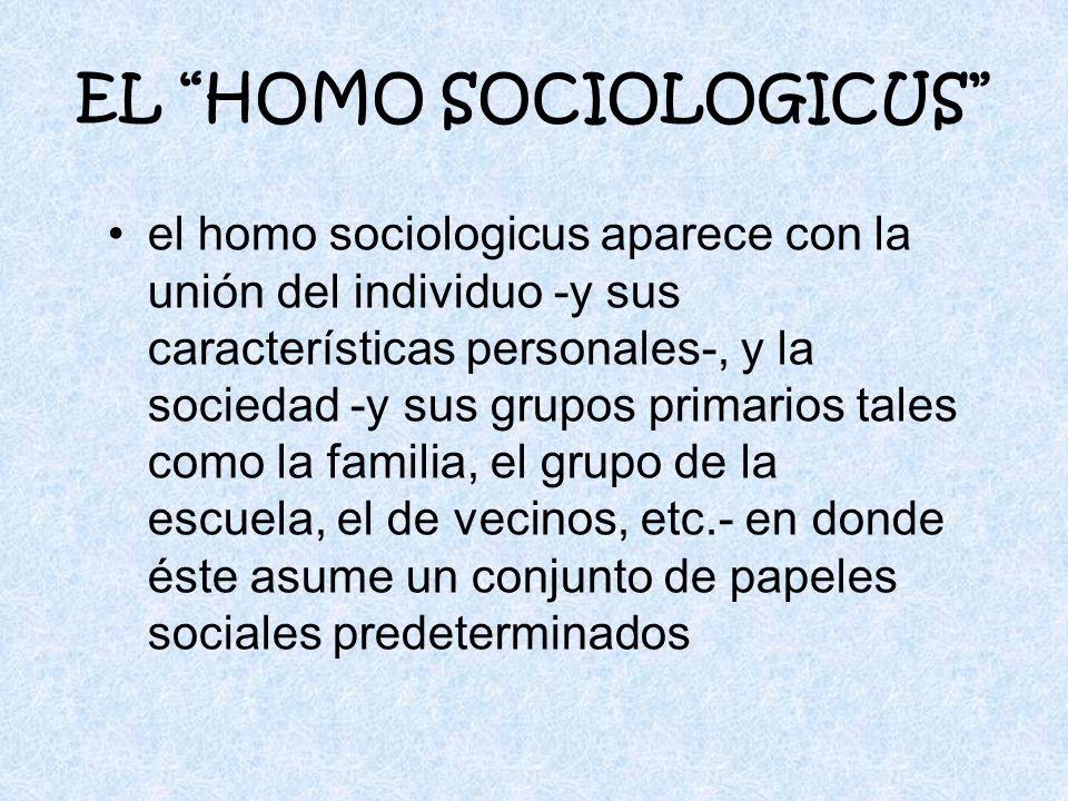 EL HOMO SOCIOLOGICUS