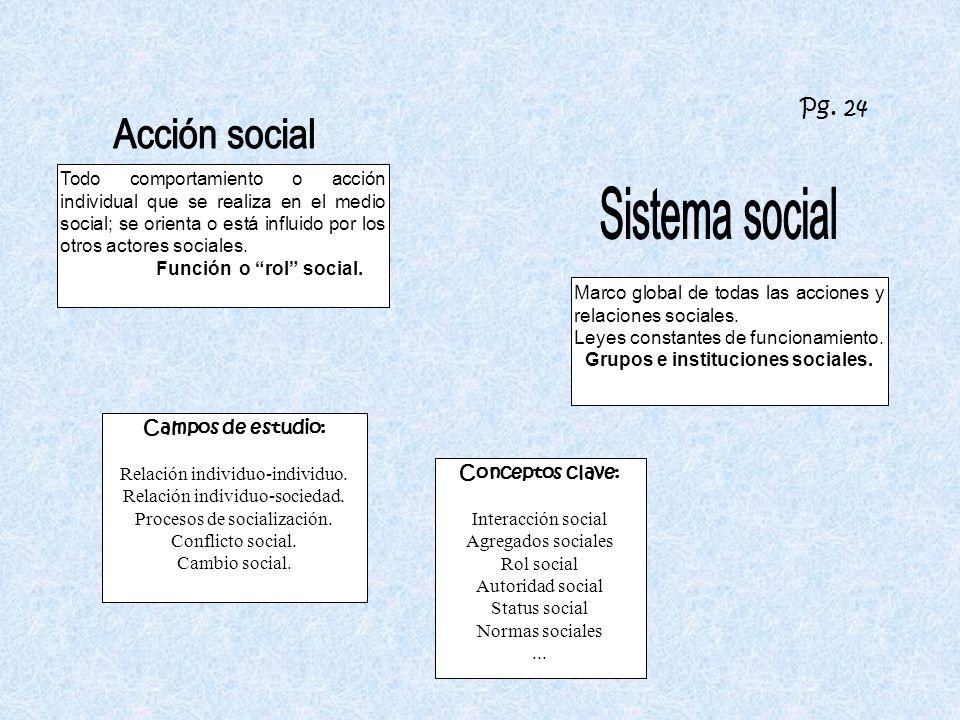 Grupos e instituciones sociales.