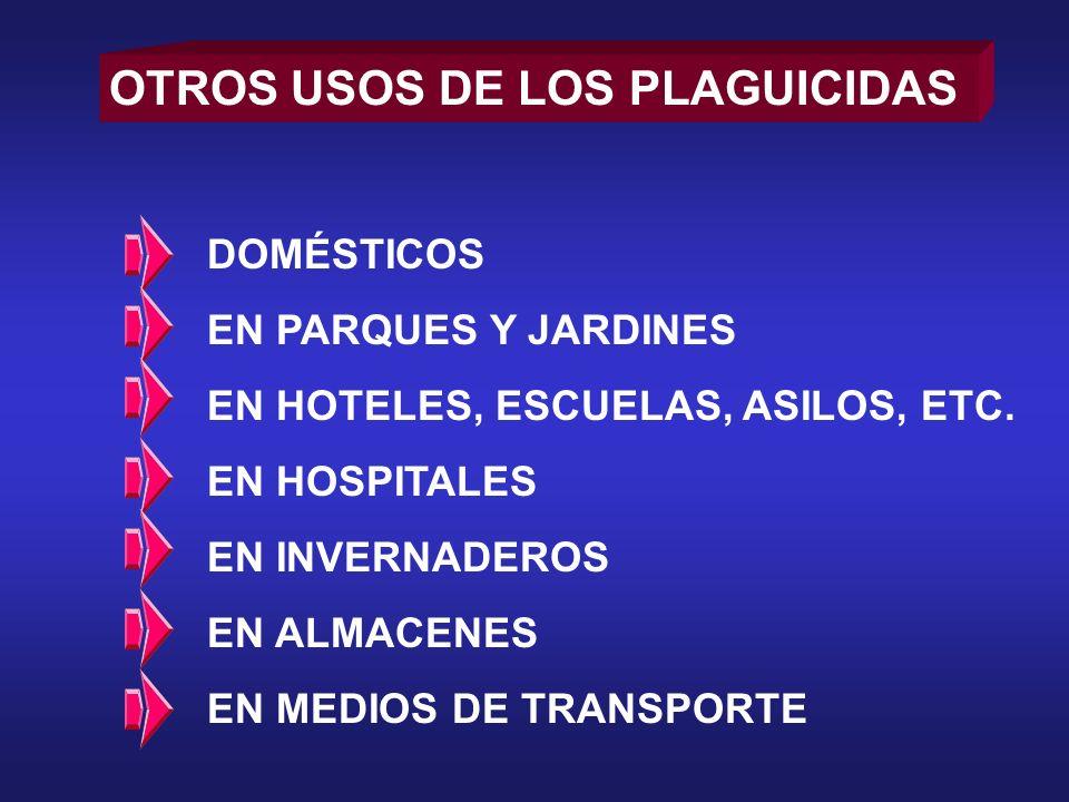 OTROS USOS DE LOS PLAGUICIDAS