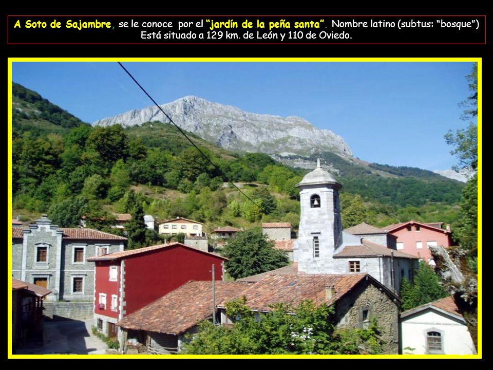 Está situado a 129 km. de León y 110 de Oviedo.