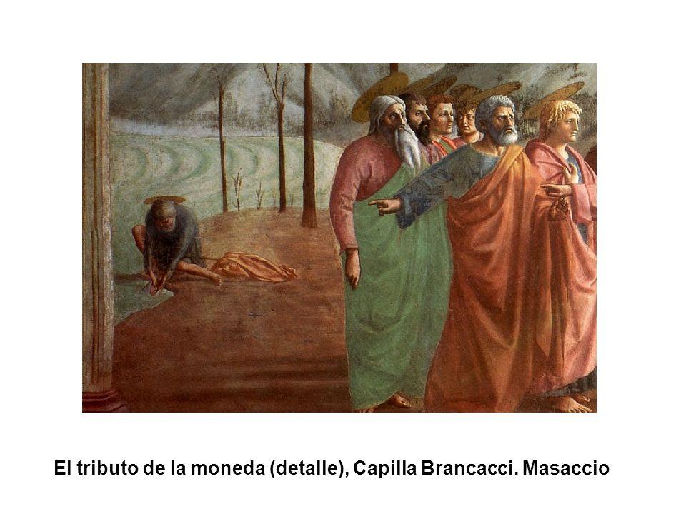 El tributo de la moneda (detalle), Capilla Brancacci. Masaccio