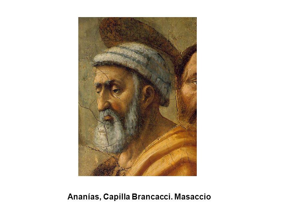 Ananías, Capilla Brancacci. Masaccio