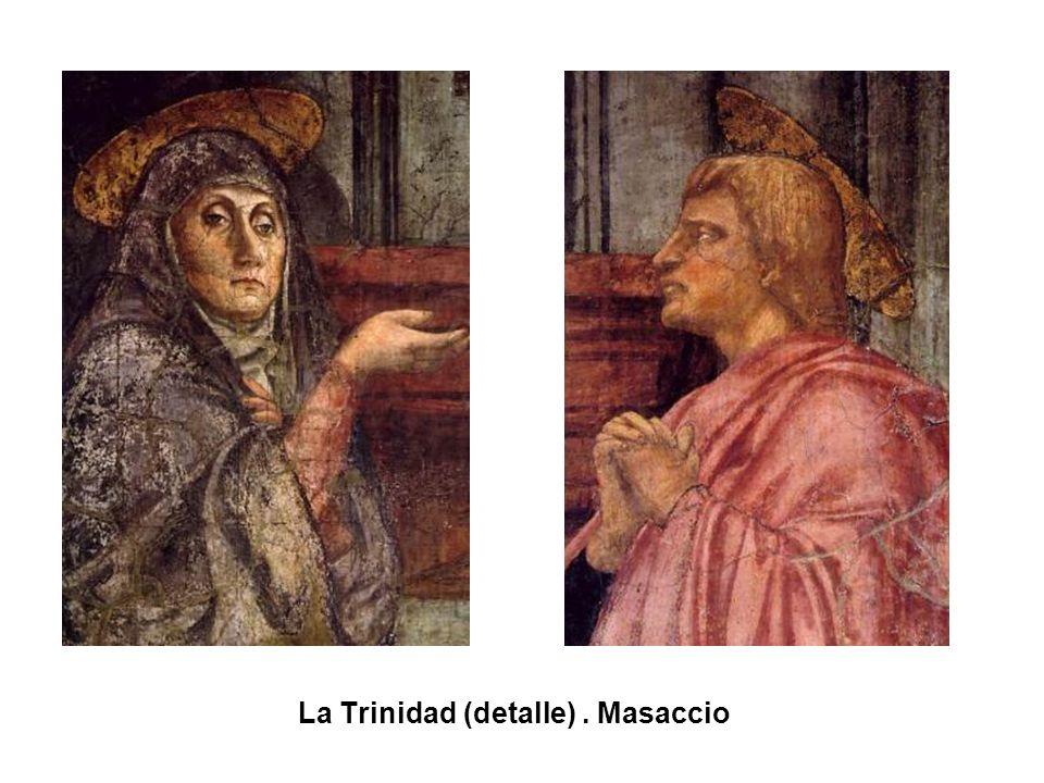 La Trinidad (detalle) . Masaccio