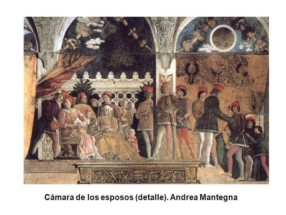 Cámara de los esposos (detalle). Andrea Mantegna