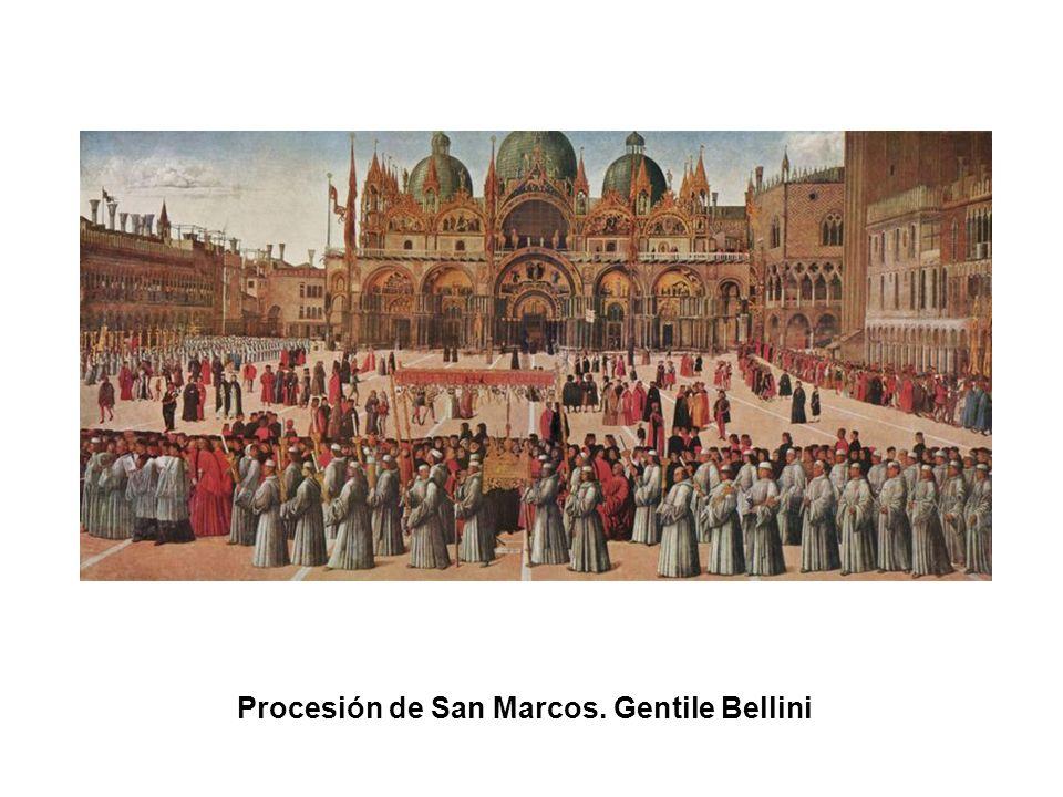 Procesión de San Marcos. Gentile Bellini