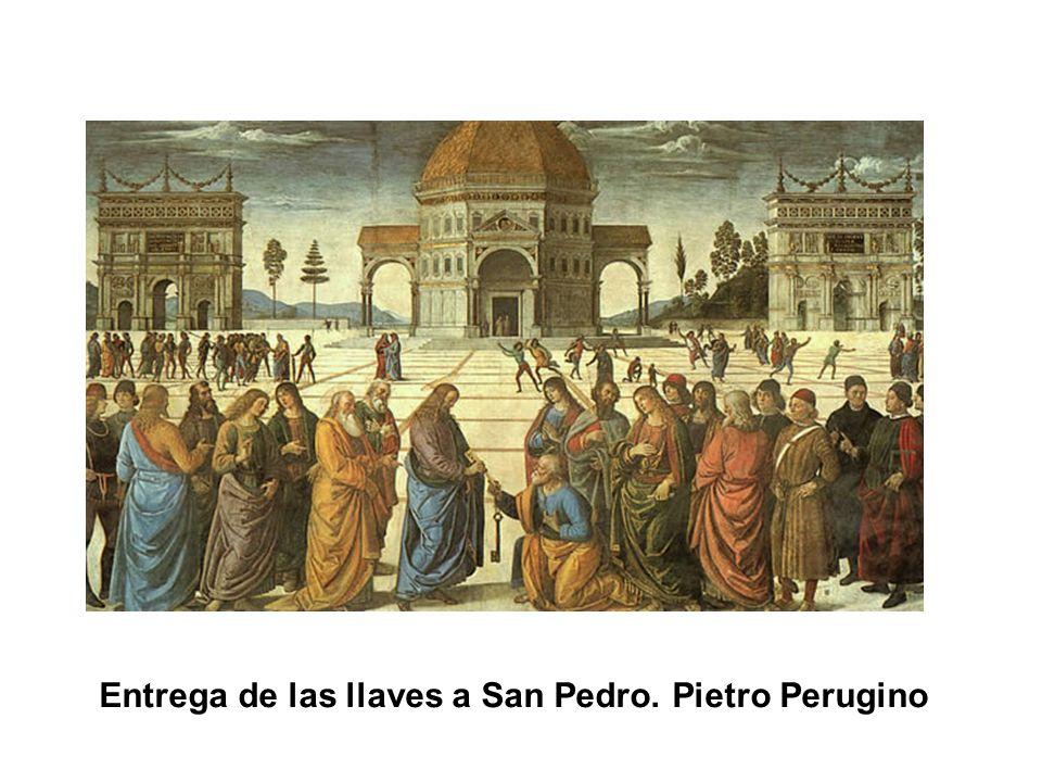 Entrega de las llaves a San Pedro. Pietro Perugino