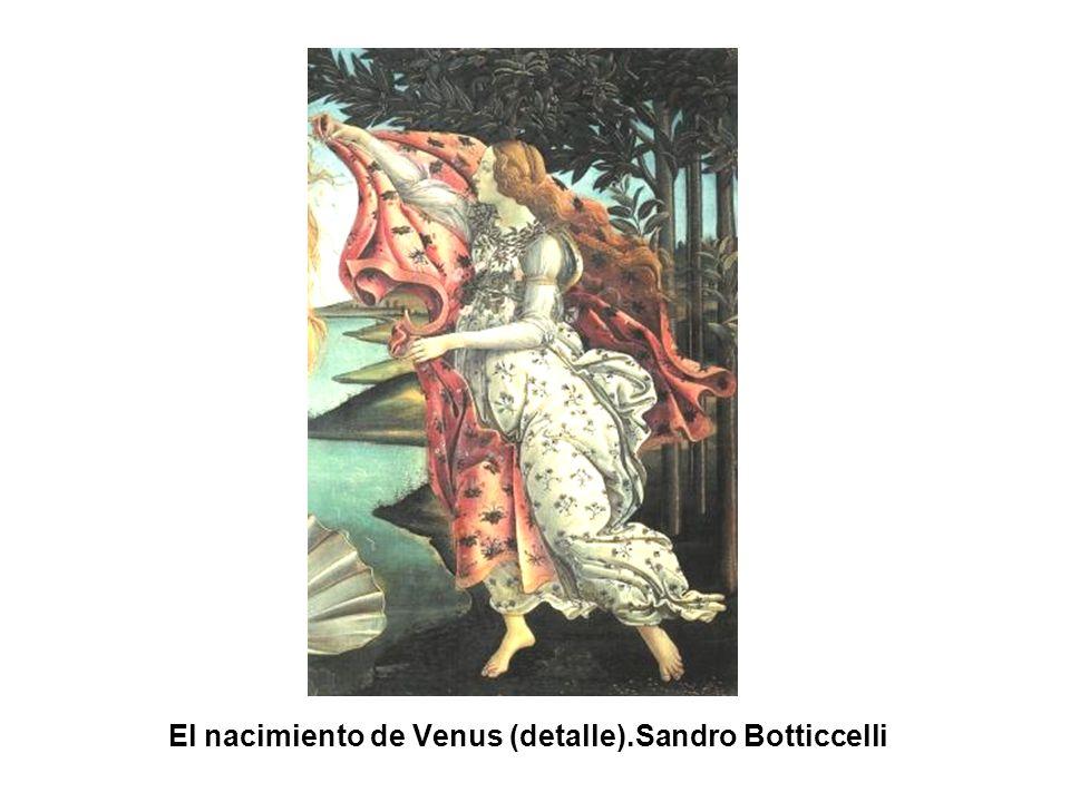 El nacimiento de Venus (detalle).Sandro Botticcelli