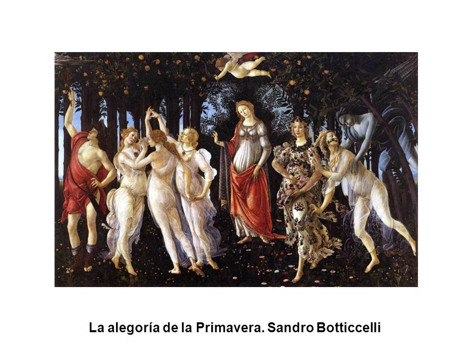 La alegoría de la Primavera. Sandro Botticcelli
