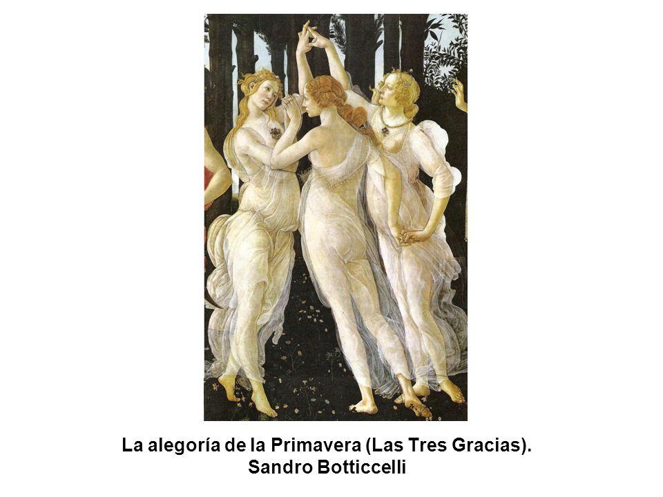 La alegoría de la Primavera (Las Tres Gracias). Sandro Botticcelli