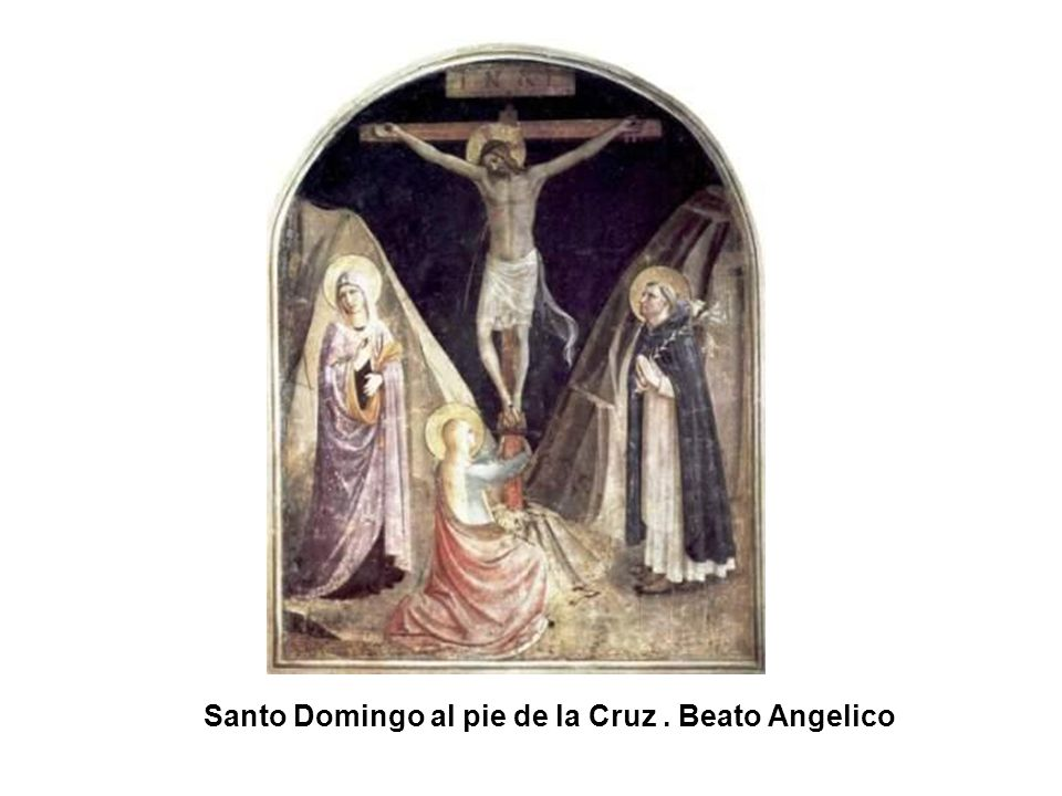 Santo Domingo al pie de la Cruz . Beato Angelico