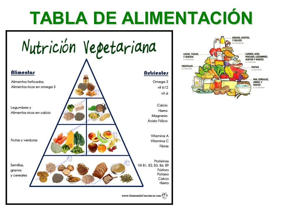 Dieta vegetariana ppt video online descargar for Tabla de alimentacion para cachama