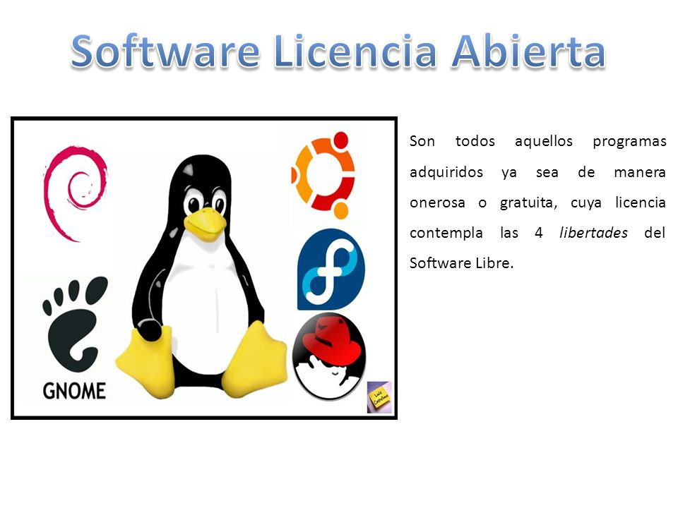 Software Licencia Abierta