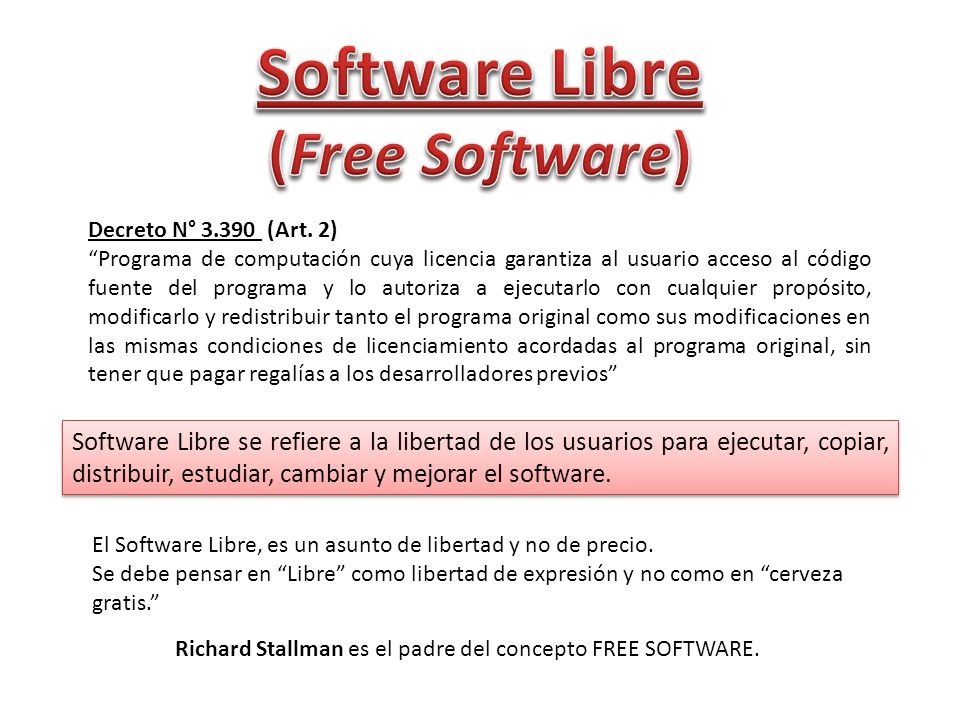 Software Libre (Free Software)