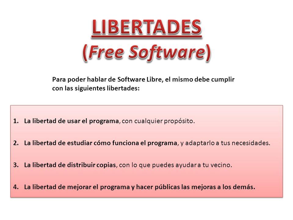 LIBERTADES (Free Software)