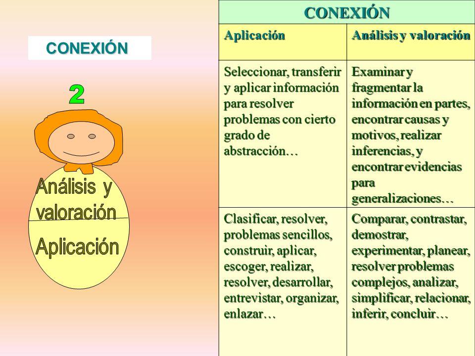 2 Análisis y valoración Aplicación CONEXIÓN CONEXIÓN Aplicación