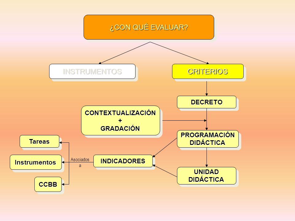 ¿CON QUÉ EVALUAR INSTRUMENTOS CRITERIOS DECRETO CONTEXTUALIZACIÓN +