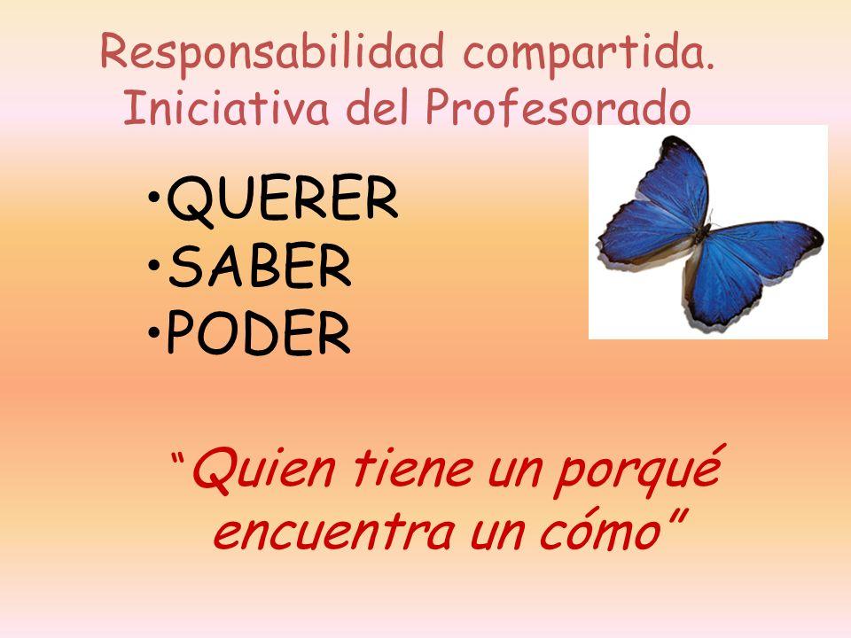 Responsabilidad compartida. Iniciativa del Profesorado