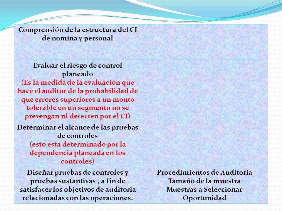3.- METODOLOGIA PARA DISEÑAR PRUEBAS DE CONTROLES Y PRUEBAS SUSTANTIVAS DE OPERACIONES