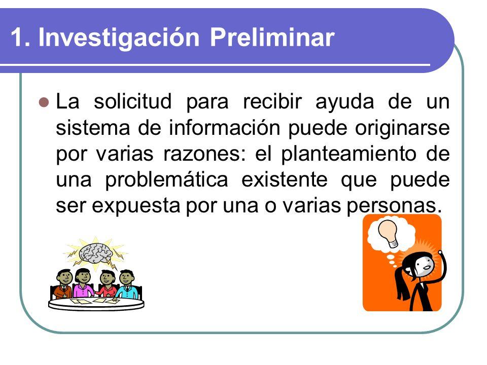 1. Investigación Preliminar